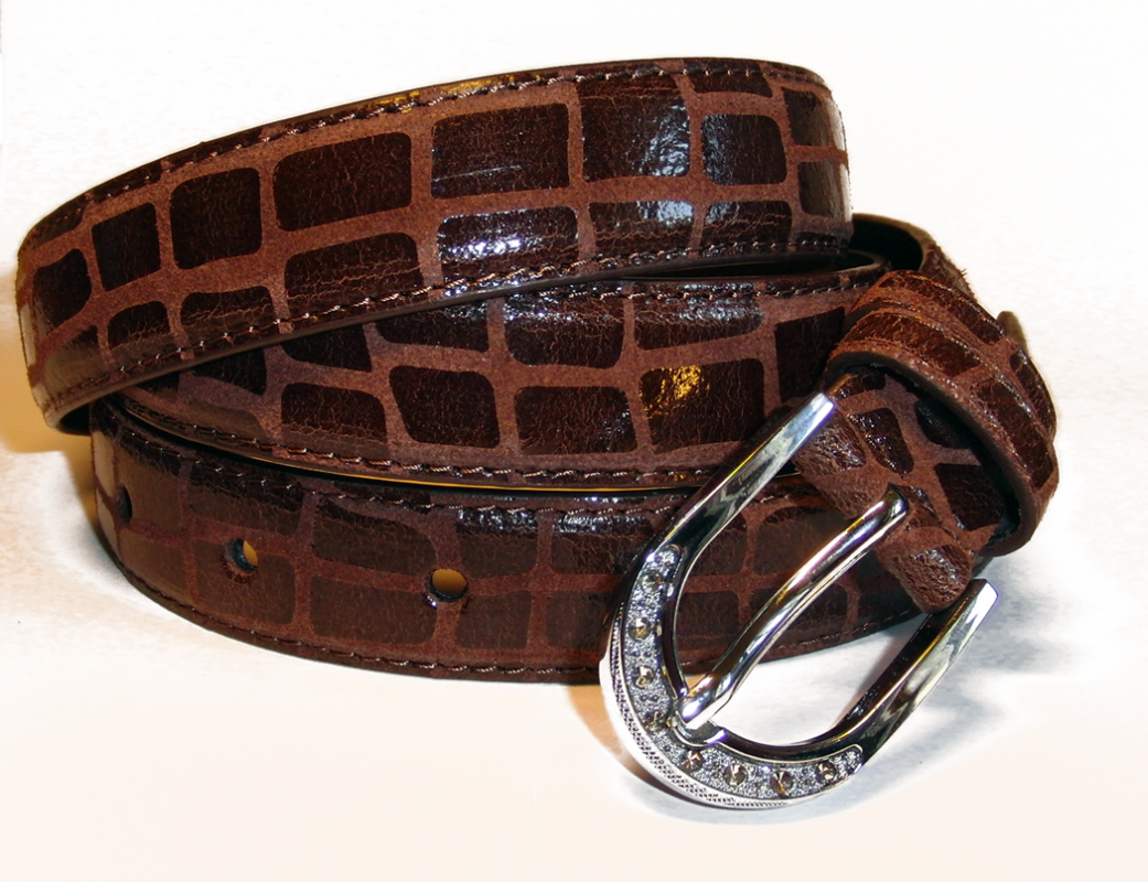 dámský kožený pásek délka 110 cm