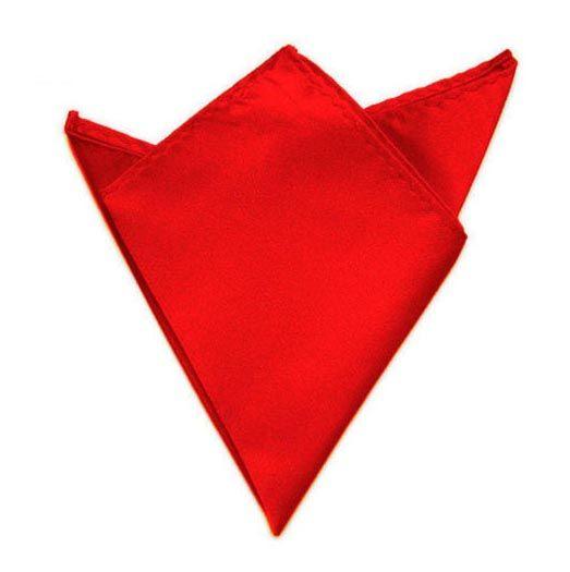 červený kapesníček do saka 21 cm x 21 cm