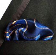 Zvětšit fotografii - modrý kapesníček do saka