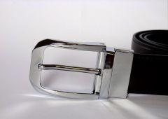 Oboustranný kožený pásek B&B s rotující sponou Baumruk