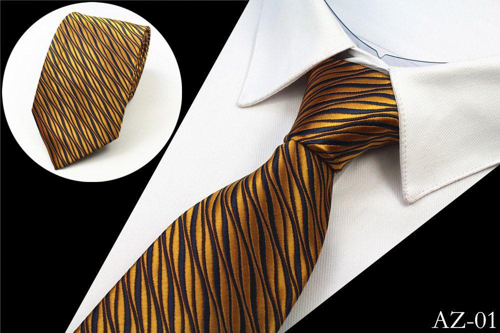 zlatá pánská kravata